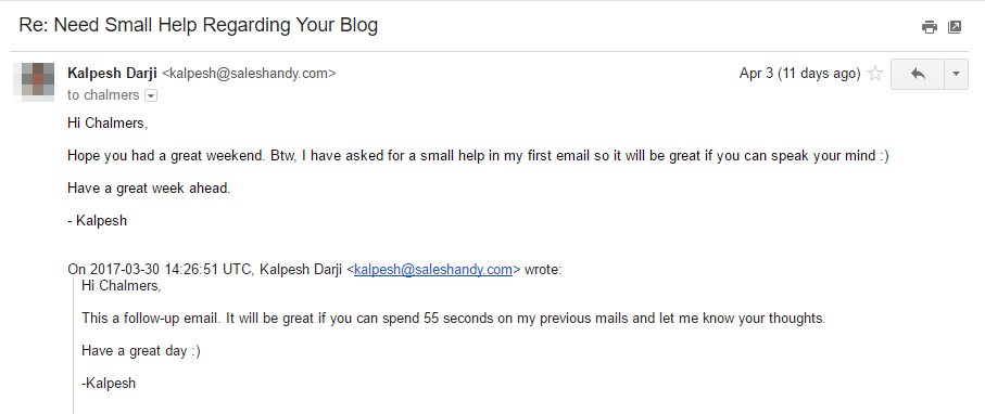 automated follow-up email