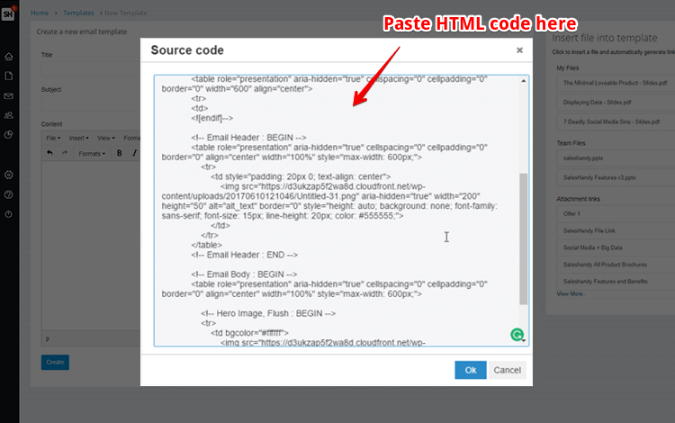 how to create html email