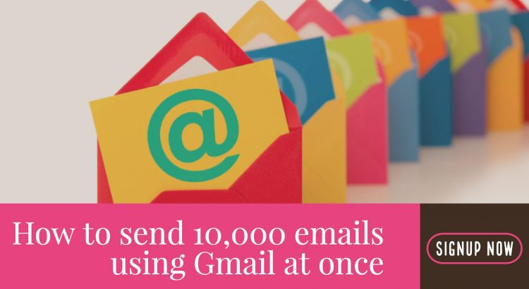 send thousands (10,000) of emails at once