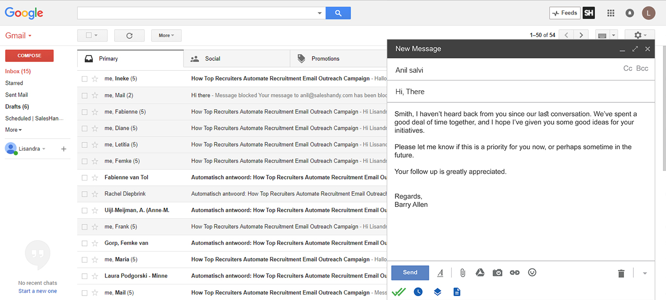 Gmail delay send interface
