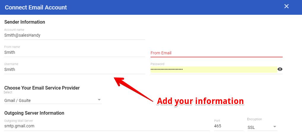 SMTP setting