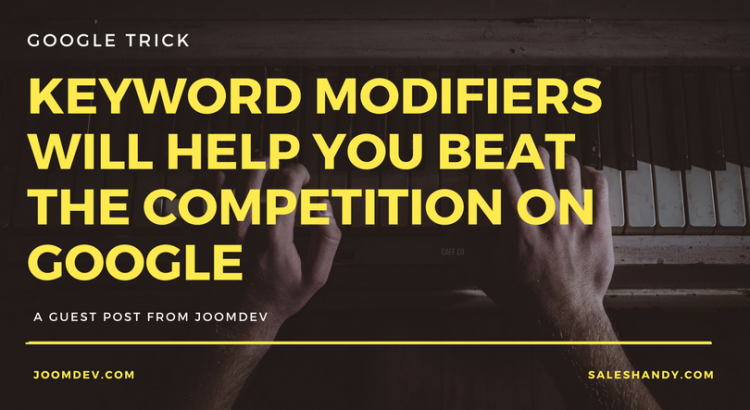 Keyword-modifiers