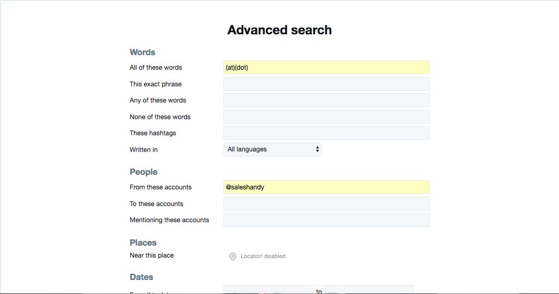 Advanced search