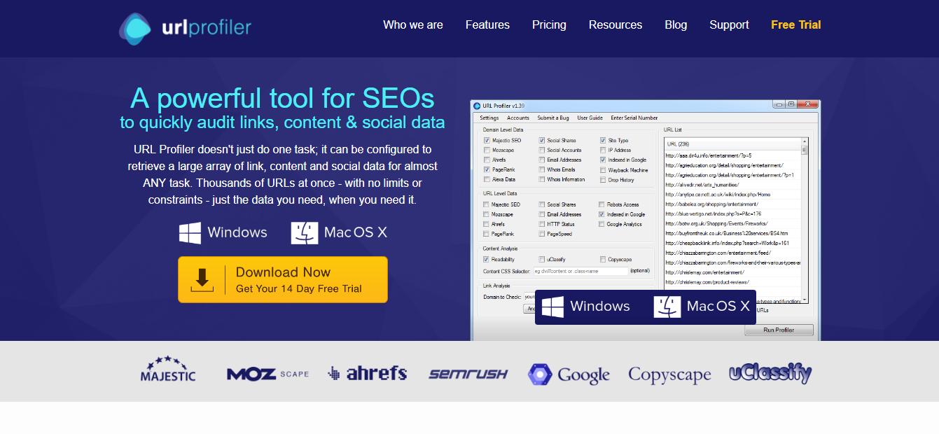 URL-profiler Link finding tools