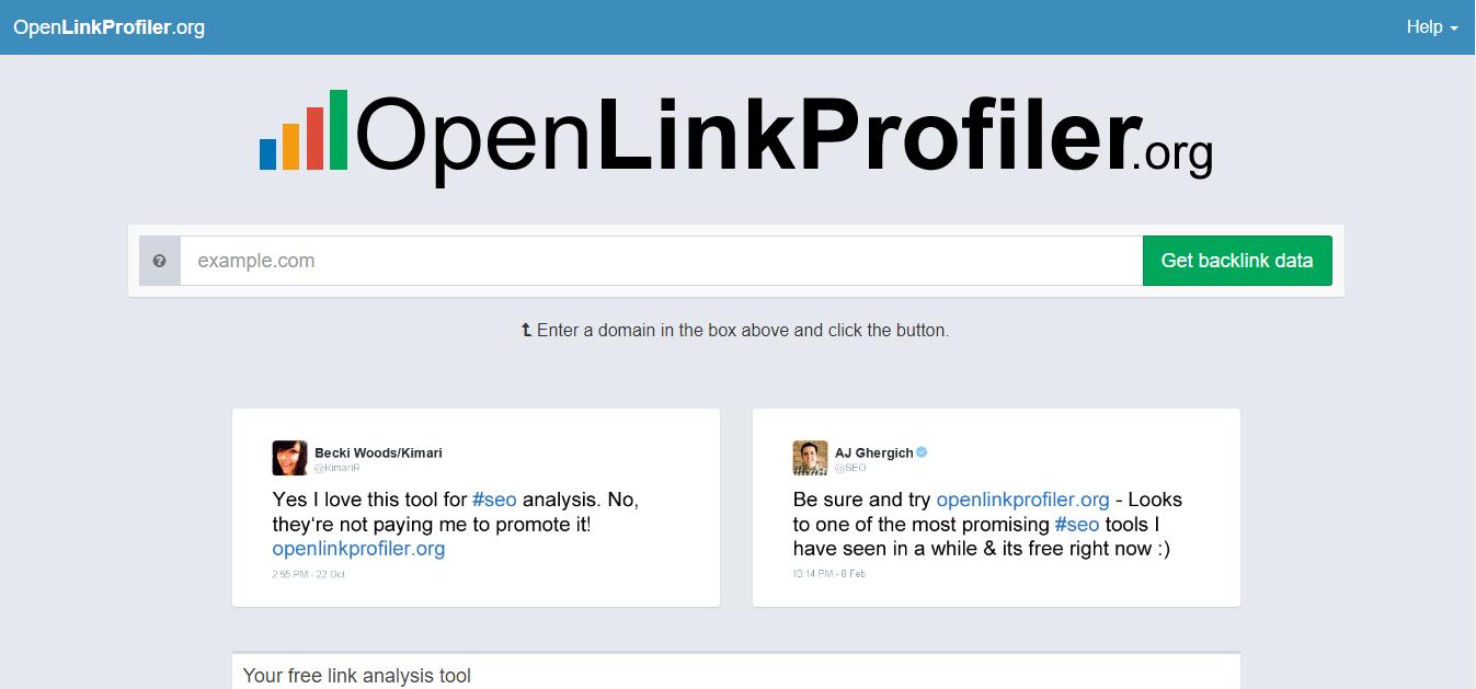 Open-link-profiler