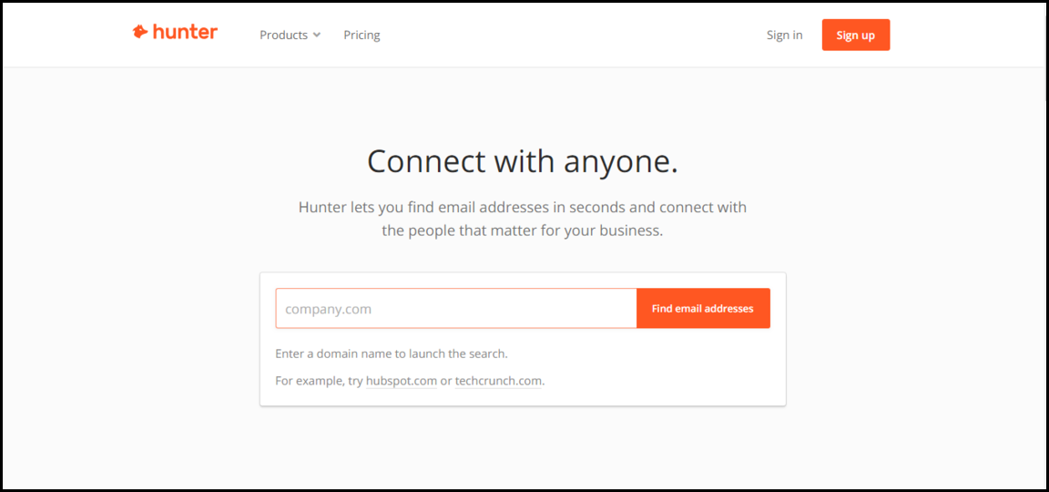 Hunter contact finding tools