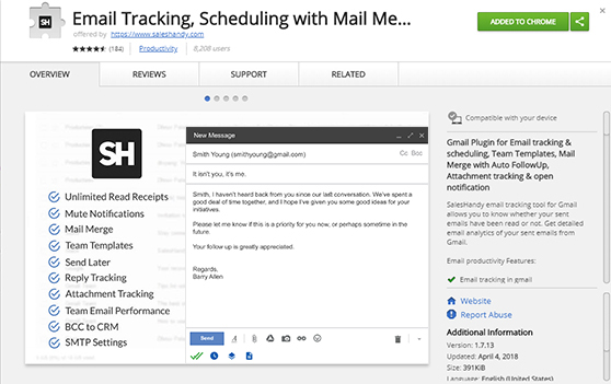 Free email tracking chrome extension